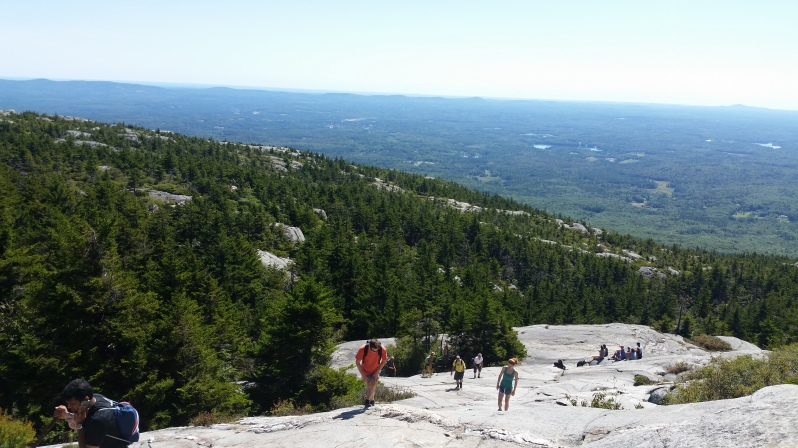 Climbing Mt Monadnock