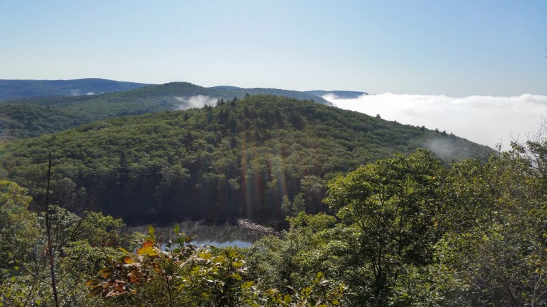 Mt. Wantastiquet - a view over the Connecticut River