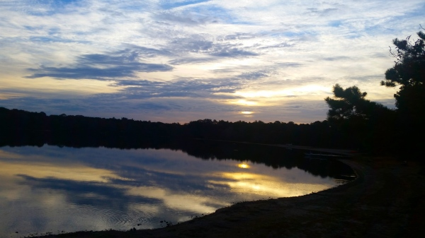 Sunrise over Ashumet Pond, Falmouth, Cape Cod, MA
