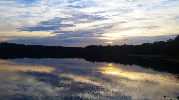 Sunrise over Ashumet Pond, Falmouth, Cape Cod, MA