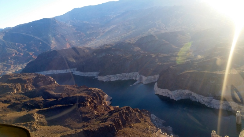 Lake Mead leading into the Hoover Dam