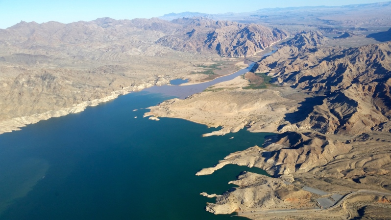 Where the Colorado River and Lake Mead meet