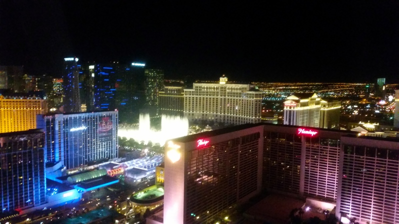 View from The High Roller at the Linq