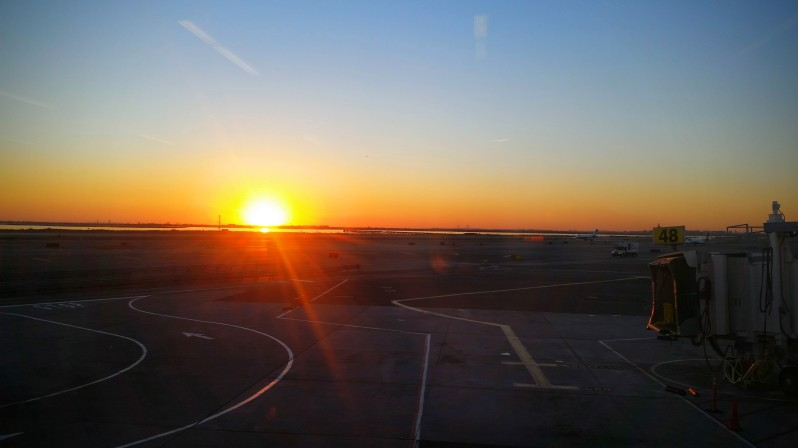 Sunset from JFK Airport