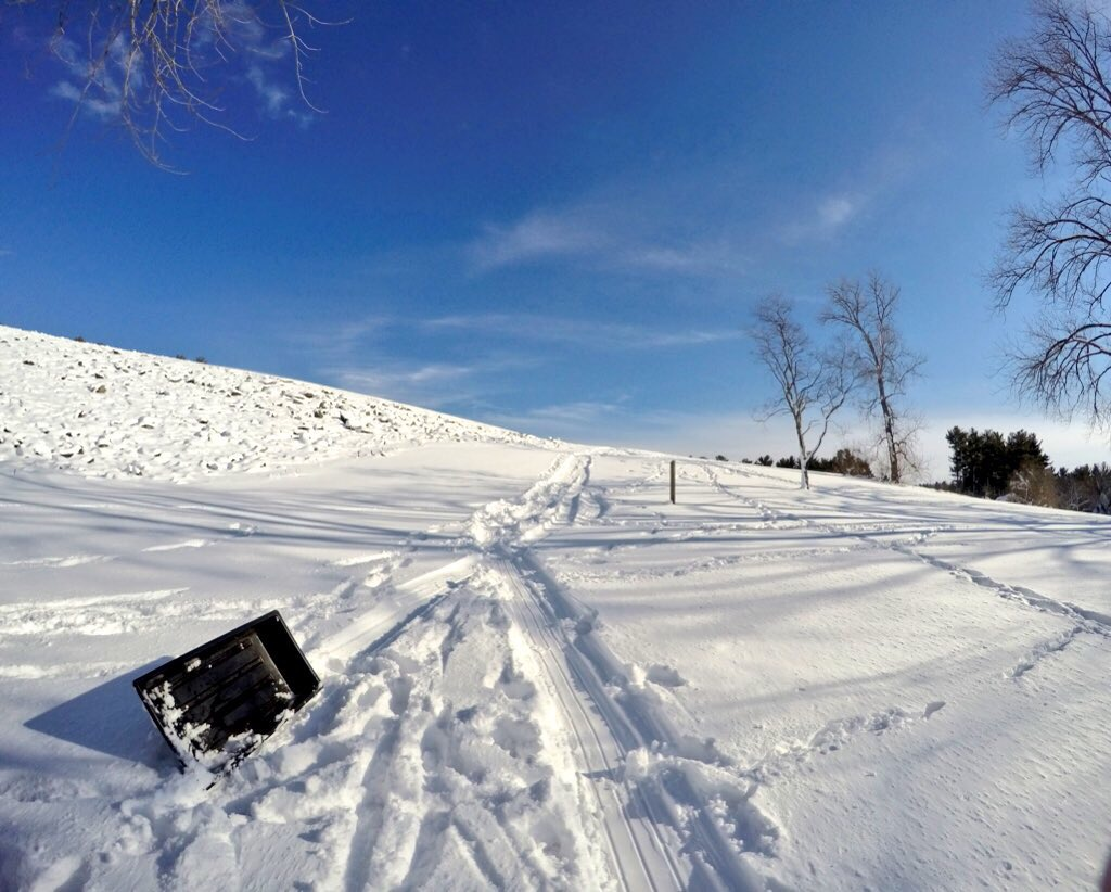 Sledding at Buffamville Dam - Oxford, MA