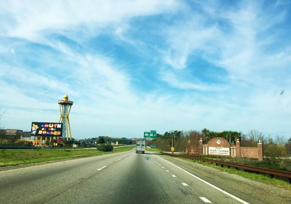Driving into South Carolina