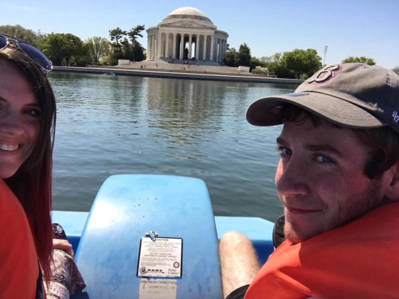Paddle Boating at the Jefferson Memorial