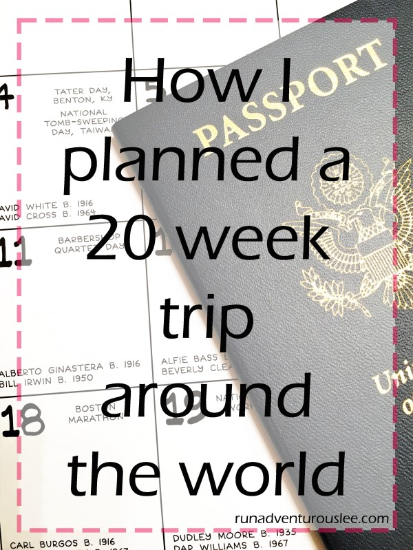 How I planned a 20 week trip around the world