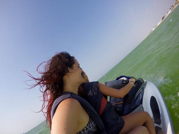 Jetskiing at Progresso Beach, Merida, Mexico