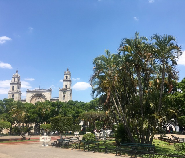 The oldest cathedral in continental North America - Merida, Mexico